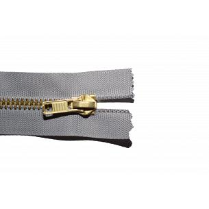 Picture of Grey Antique Brass Closed End Jean Zips