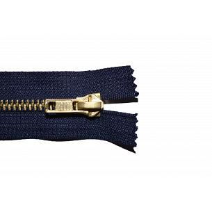 Picture of Navy Antique Brass Closed End Jean Zips