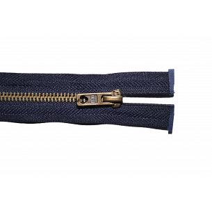 Picture of Navy Blue Antique Brass Open End Zips
